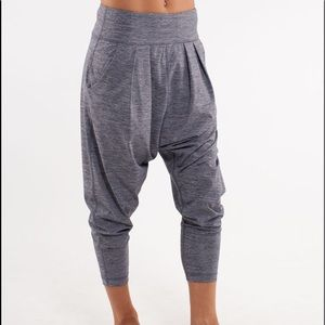 Lululemon Happy Hatha Harem Drop Crotch Pant Gray